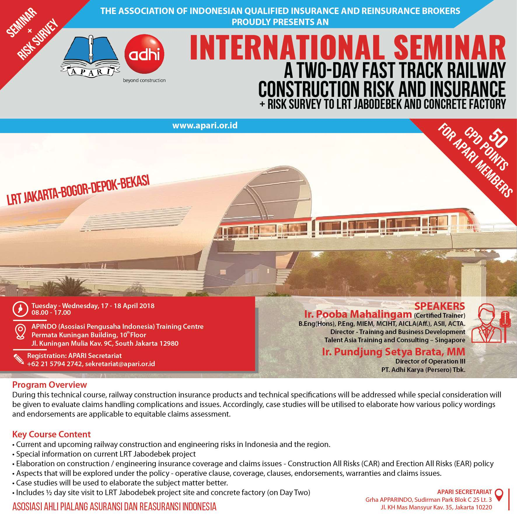 international-seminar-railway-construction-project-a-two-day-fast-track-railway-construction-risk-and-insurance-with-risk-survey-to-lrt-jabodebek-project-site-and-concrete-factory-pt-adhi-karya-perse
