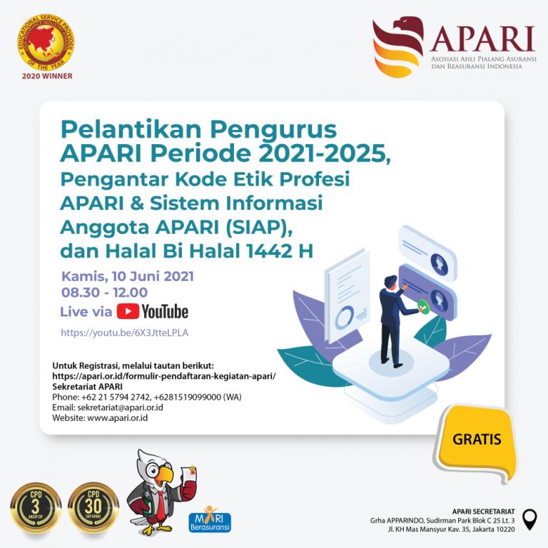 Flyer - Pelantikan Pengurus APARI-01